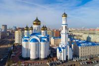 Делегаты VII Съезда православной молодежи Казахстана приняли участие в Божественной Литургии, которую возглавил митрополит Астанайский и Казахстанский Александр